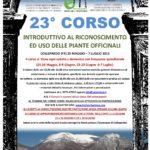 23° Corso introduttivo al riconoscimento e uso delle piante officinali