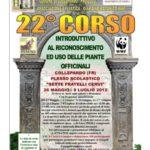 22° Corso introduttivo al riconoscimento e uso delle piante officinali
