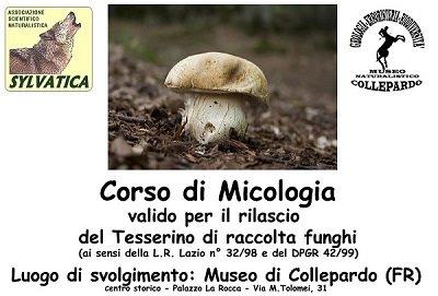 Corso raccoglitori funghi - Collepardo ottobre 2019